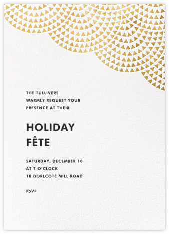 Savoy (Tall) - Gold - Paperless Post - Holiday invitations