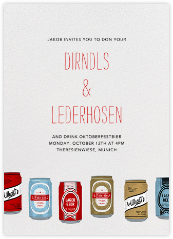 Silk Screen Beers - Paperless Post - Oktoberfest invitations