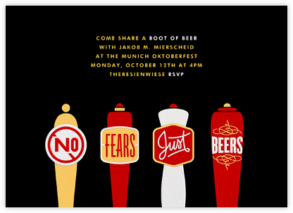 No Fears Just Beers - Paperless Post - Oktoberfest invitations