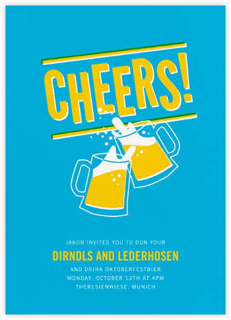 Cheers Beers (Invitation) - Hello!Lucky - Oktoberfest invitations