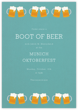 Cold Boys - Paperless Post - Oktoberfest invitations