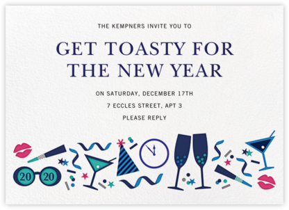 Ring It In (Horizontal) - Multi - Jonathan Adler - New Year's Eve Invitations