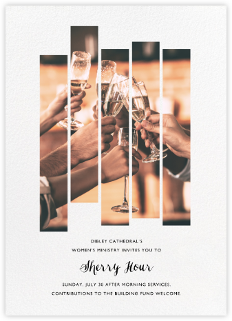 Five Dancing Photo Strips - Paperless Post - Fundraiser Invitations