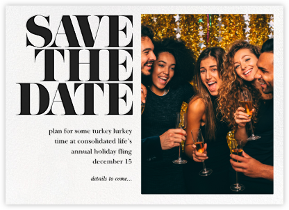 Vintage Book Save the Date (Photo) - Black - kate spade new york - Business Party Invitations