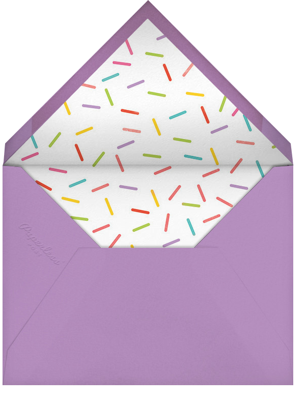 Birthday Balloon - Lilac - Paperless Post - Adult birthday - envelope back