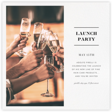 Split Square - Paperless Post - Launch Party Invitations
