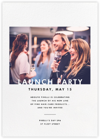 Horizontal Photo on Tall - Paperless Post - Launch Party Invitations
