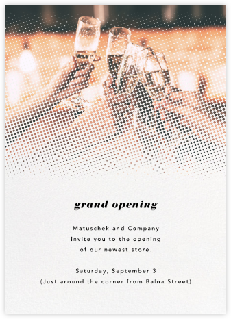 Halftone - Paperless Post - Business event invitations