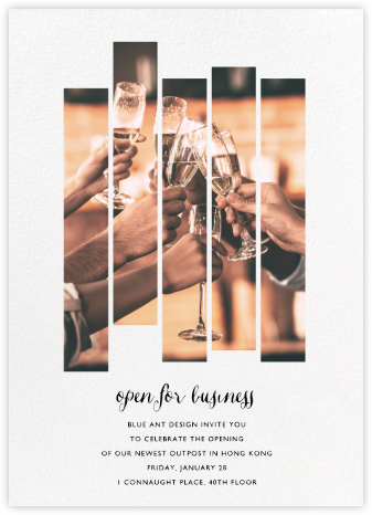 Five Dancing Photo Strips - Paperless Post - Business event invitations