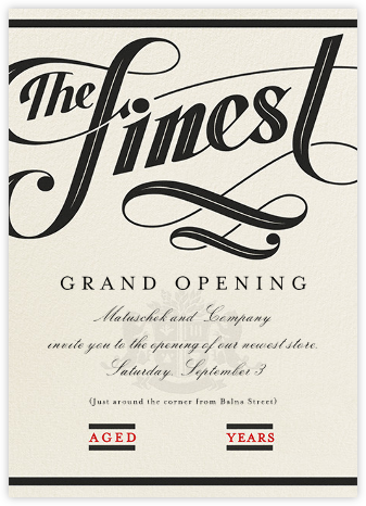 Barrel-Aged - Paperless Post - Launch Party Invitations