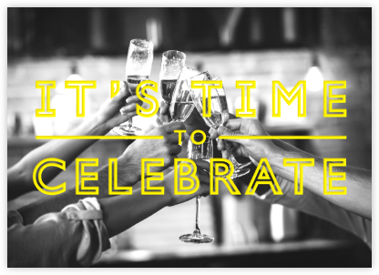 It's Time To Celebrate - Yellow - Paperless Post - null