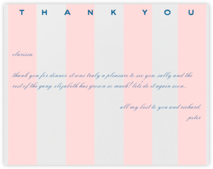 Awning Stripe (Pink) - Paperless Post - Kids' thank you notes