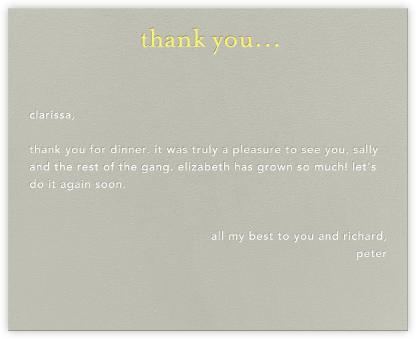 Casual Thanks (Yellow) - Paperless Post - Greetings
