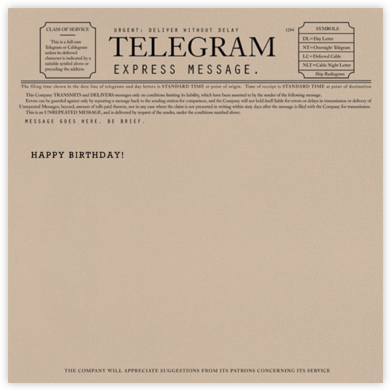 Telegram - Happy Birthday - Paperless Post - Birthday Cards