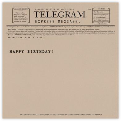 Telegram - Happy Birthday - Paperless Post - Online greeting cards