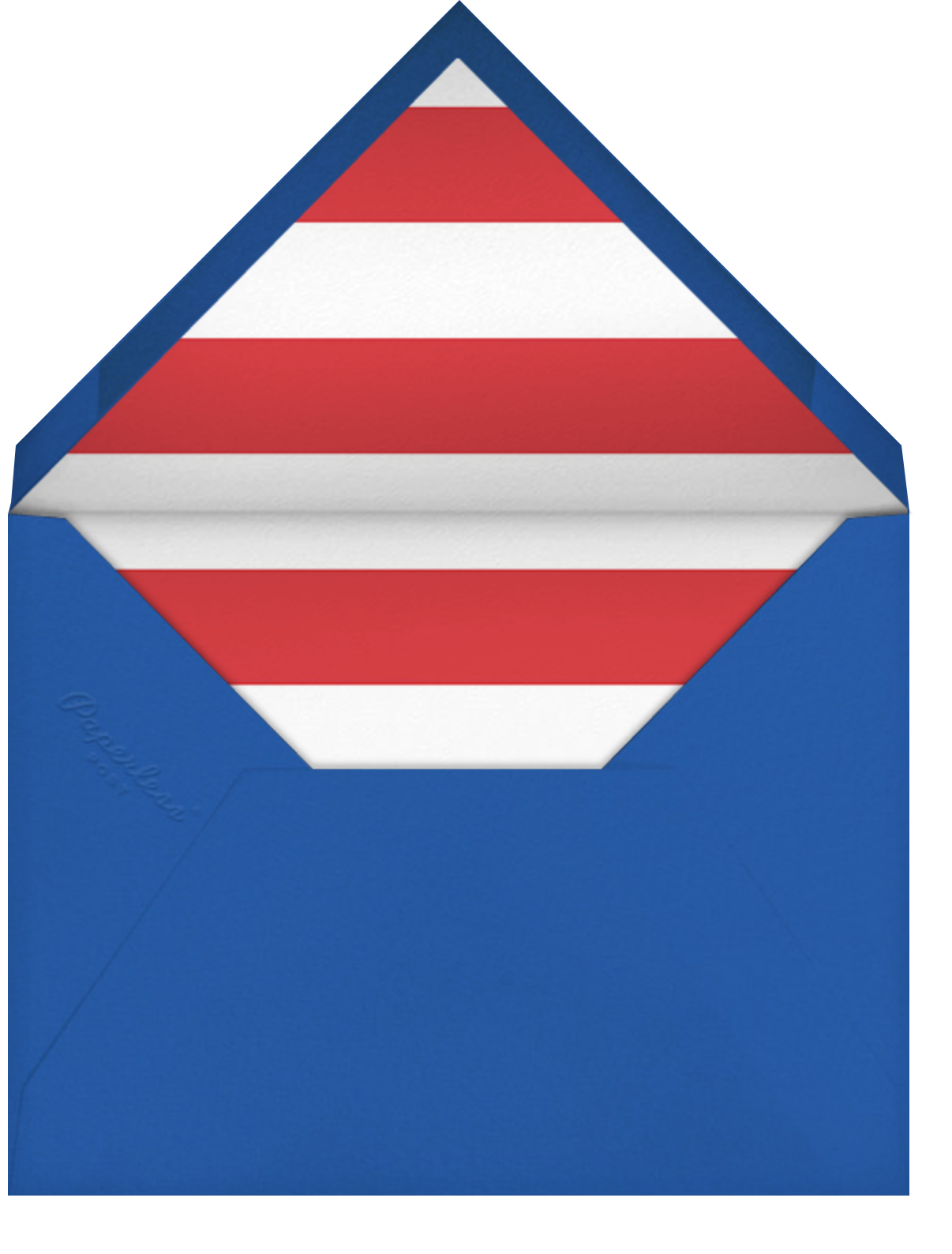 Keg with Flag - Paperless Post - 4th of July - envelope back