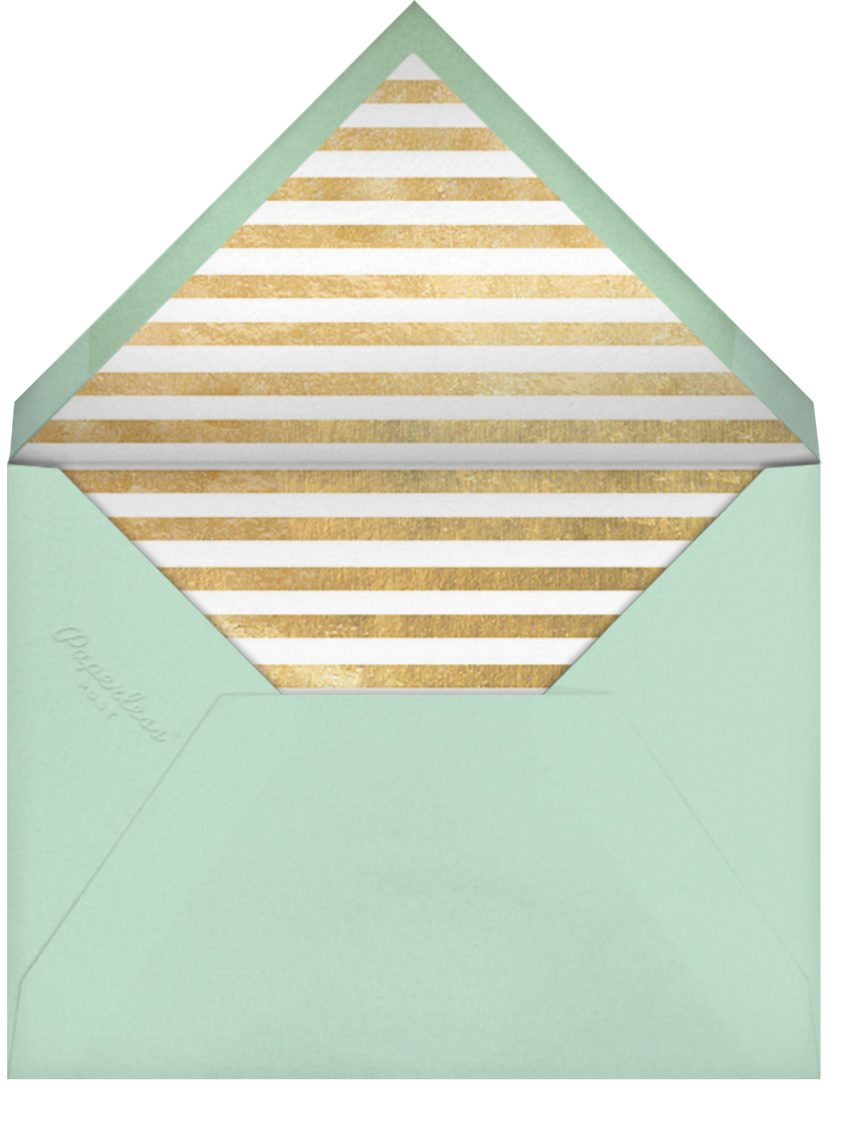 Decade Photo (Seventy) - Gold - Paperless Post - Adult birthday - envelope back