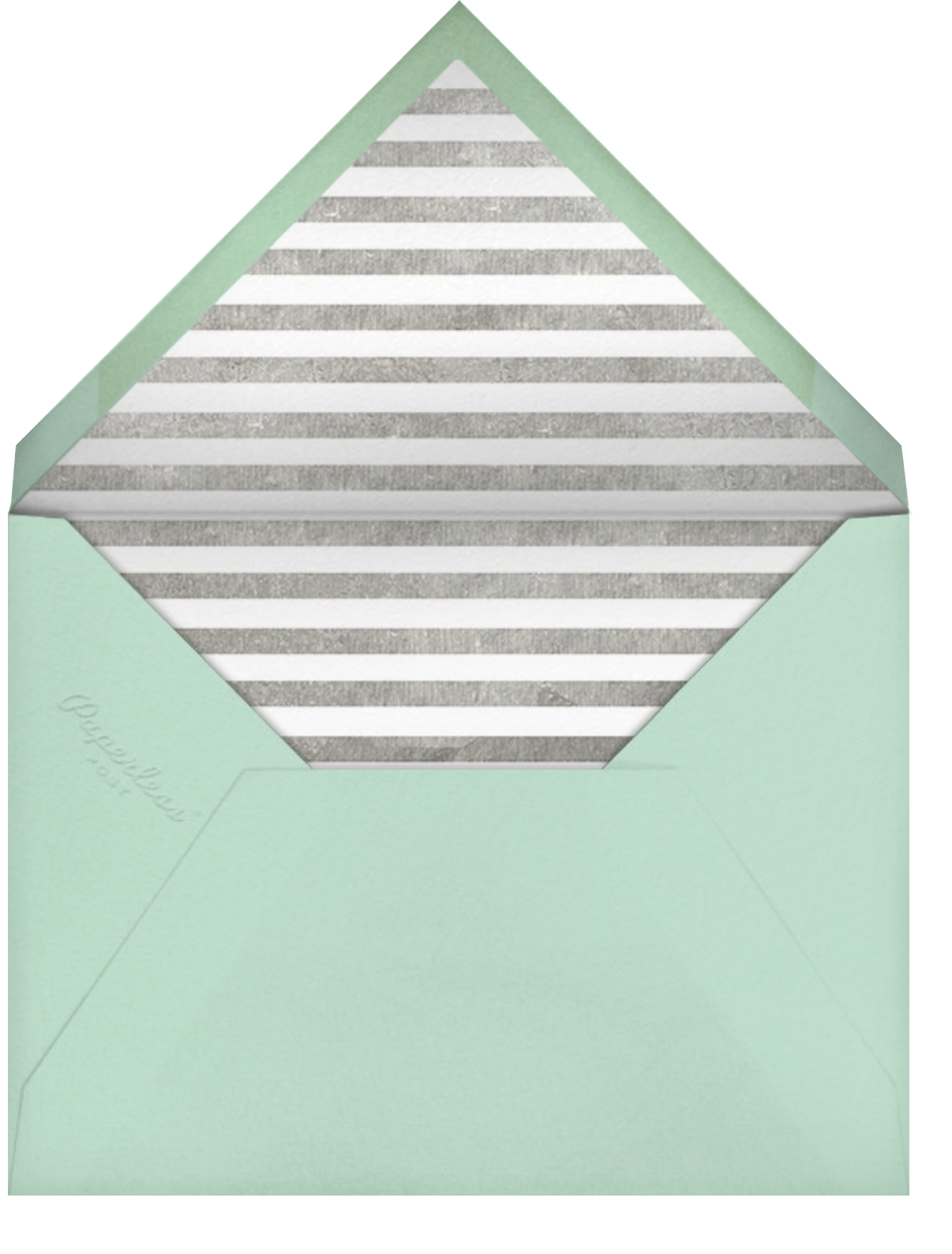 Decade Photo (One Hundred) - Silver - Paperless Post - Envelope