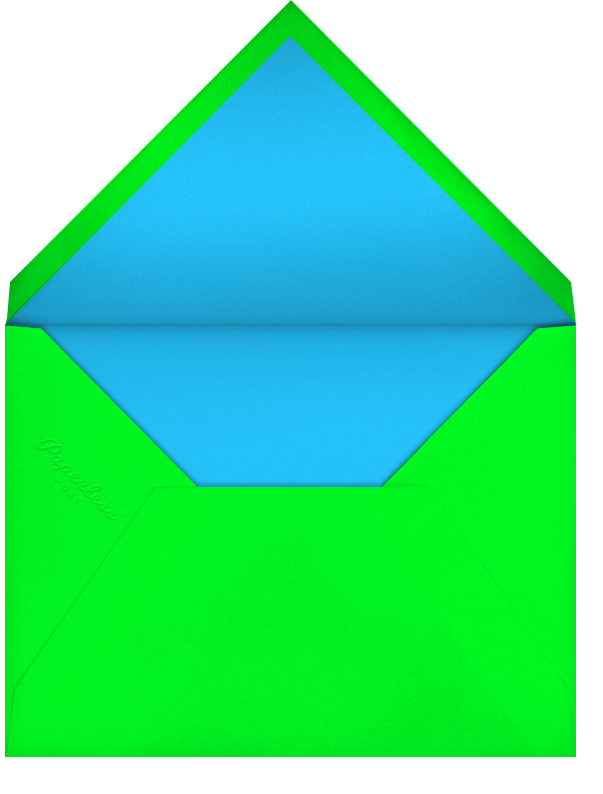 Optical Horizons - Turquoise - Paperless Post - Envelope