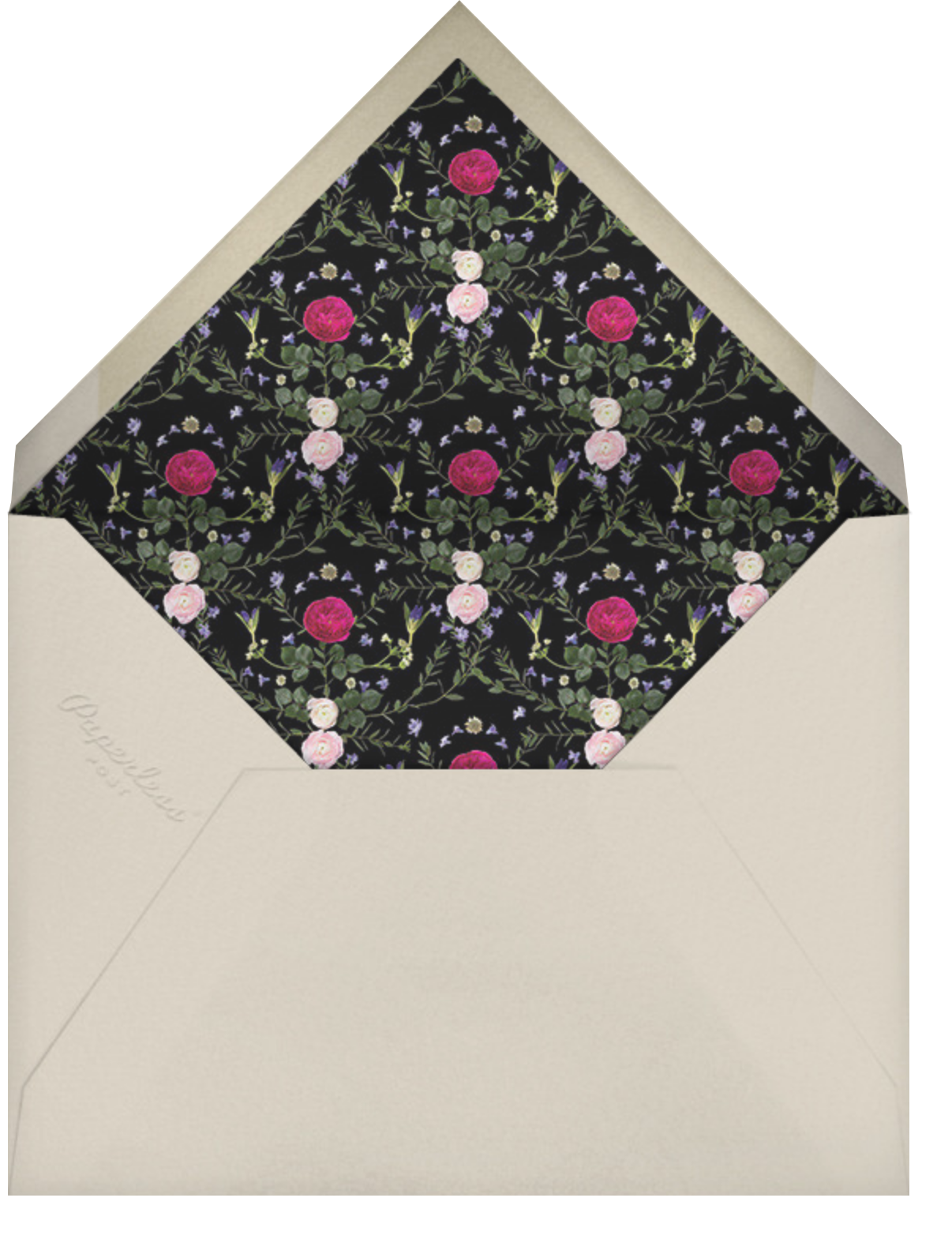 Painted Circle - Paperless Post - Engagement party - envelope back