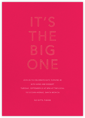 One Big Birthday - Bright Pink - Sugar Paper -