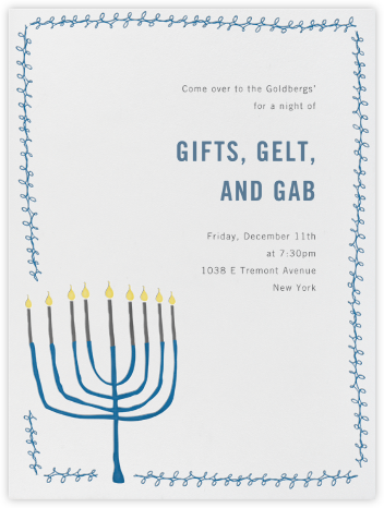 Hand Drawn Menorah - Paperless Post - Invitations