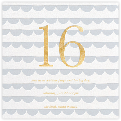 Scallop Party - Sugar Paper - Sweet 16 invitations