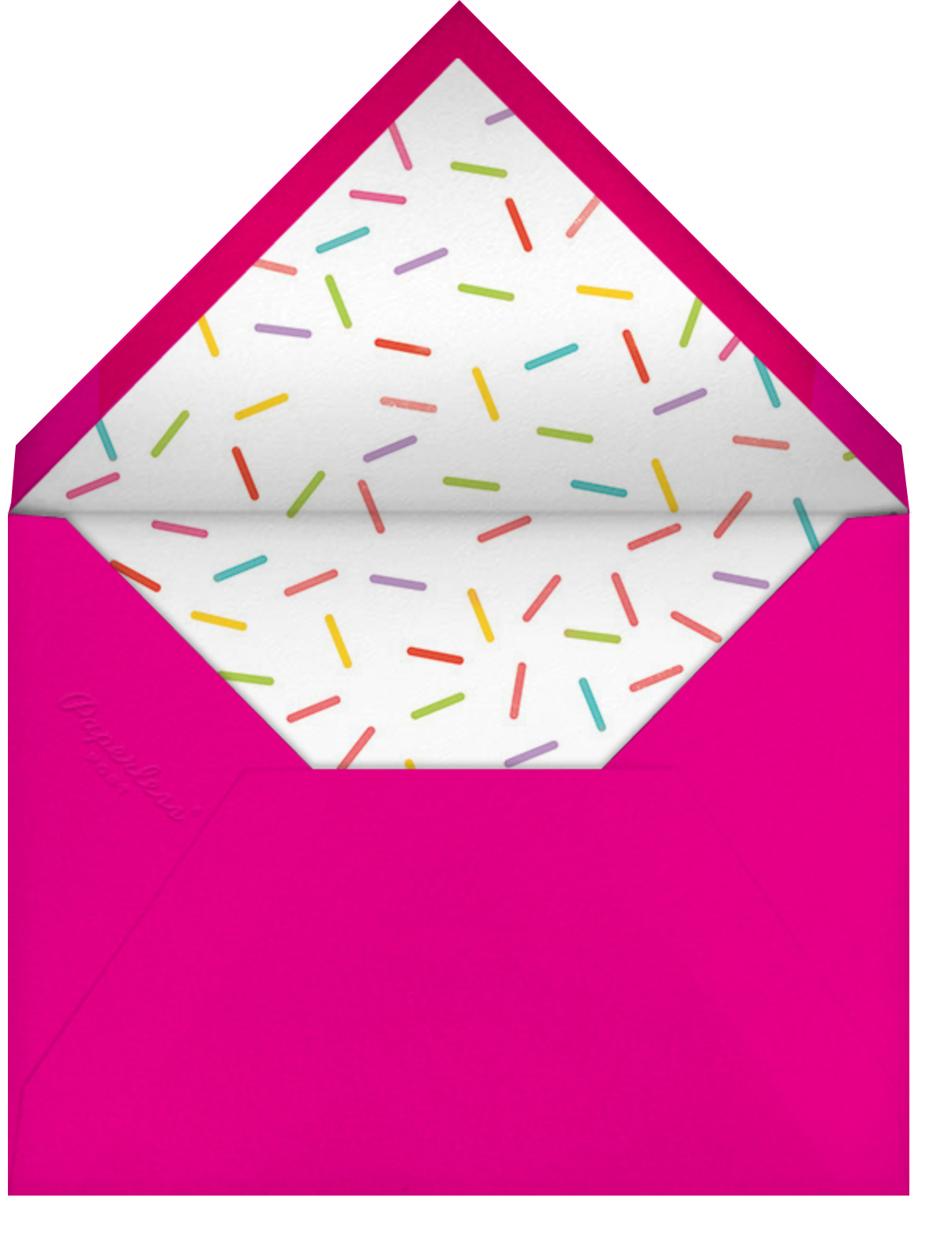 Birthday Balloon - Bright Pink - Paperless Post - 1st birthday - envelope back