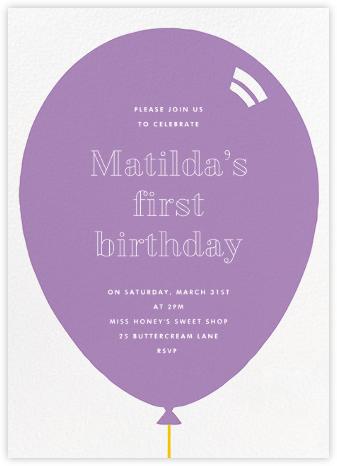 Birthday Balloon - Lilac - Paperless Post -
