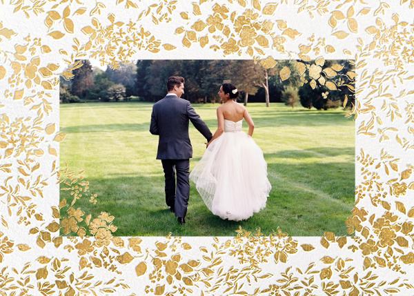 Richmond Park (Photo) - Gold - Oscar de la Renta - Wedding thank you notes