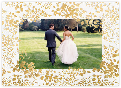 Richmond Park (Photo) - Gold - Oscar de la Renta - Wedding thank you cards
