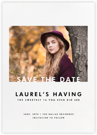 Horizontal Photo on Tall (Save the Date) - Paperless Post - Invitations