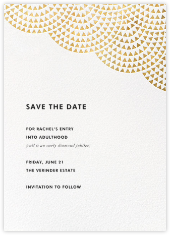 Savoy (Save the Date) - Gold - Paperless Post - Invitations