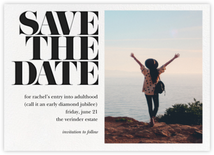 Vintage Book Save the Date (Photo) - Black | horizontal