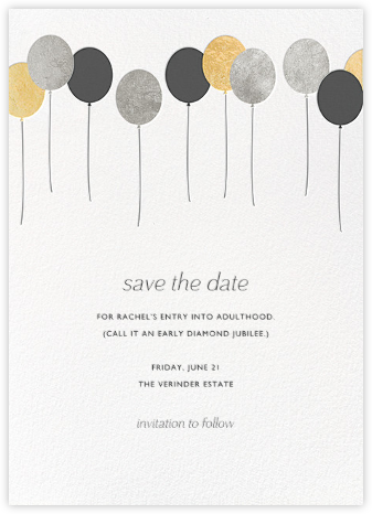Balloons - Metallic - Paperless Post - Invitations