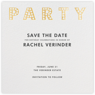 Marquee Lights - Gold - Paperless Post - Invitations