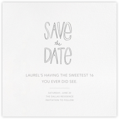 Save the Date Handwriting - Linda and Harriett -