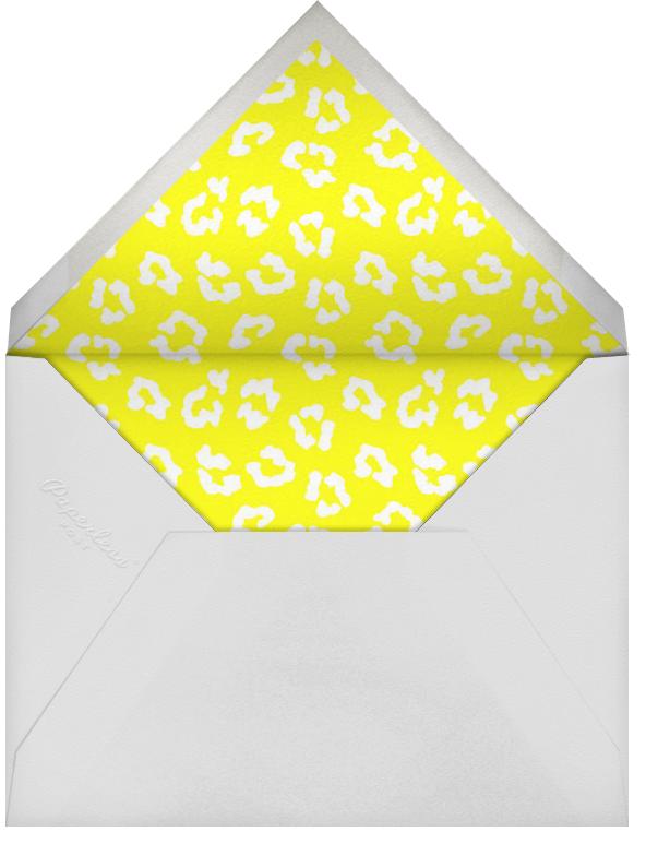 Neon Cheetah - Paperless Post - Adult birthday - envelope back