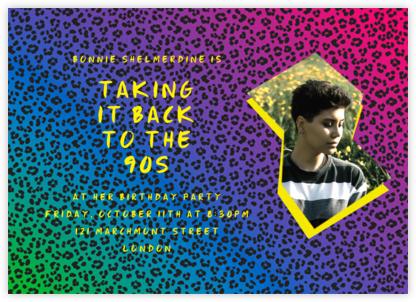 Neon Cheetah (Photo) - Paperless Post - Birthday invitations