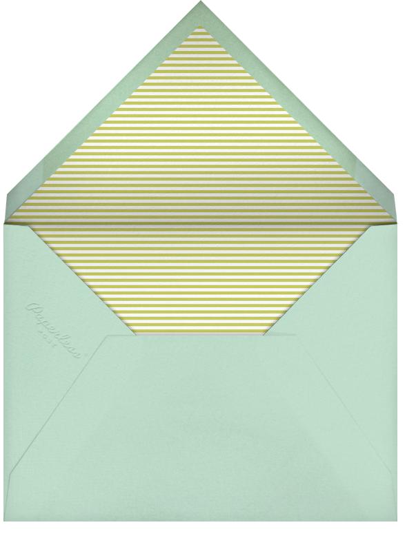 Gradient Brush Strokes - Green - Paperless Post - Kids' birthday - envelope back