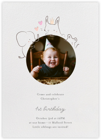 Sneak Peek - Little Cube - Birthday invitations