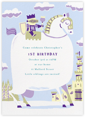 Our Little Prince - Paperless Post - First Birthday Invitations