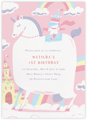 Our Little Princess - Paperless Post - Unicorn invitations