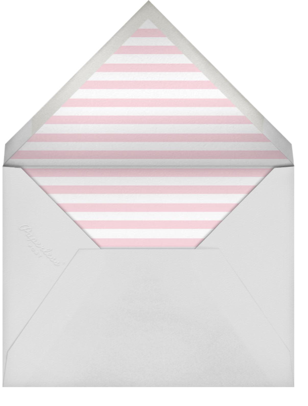 Horizontal Split - Magenta - Paperless Post - 1st birthday - envelope back