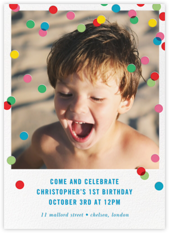 Birthday Baronial (Photo Invitation) - kate spade new york - First Birthday Invitations