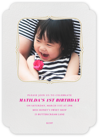 Sweet Dreams - White - Paperless Post - First Birthday Invitations