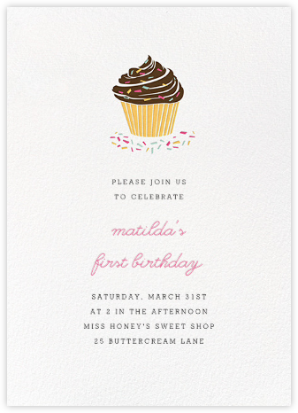 Sprinkles and Icing - Paperless Post - First Birthday Invitations