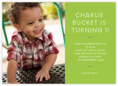 Photo Spread - Charterhouse - Paperless Post - First Birthday Invitations