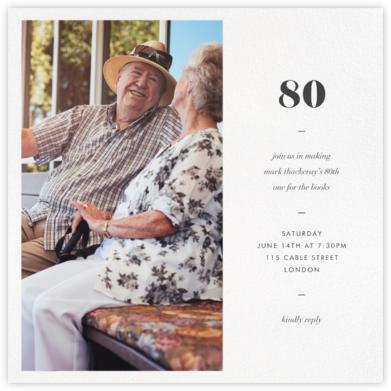 Split Square - Paperless Post - Milestone birthday invitations