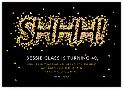 The Surprise is Shaping Up - Paperless Post - Milestone birthday invitations